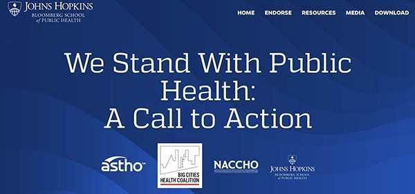 We Stand With Public Health web