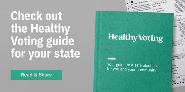 Healthy Voting guides email graphic