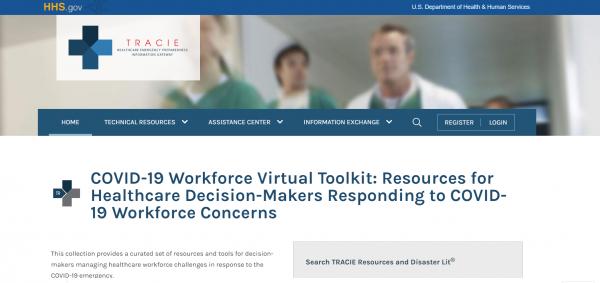 2020 04 27 14 34 47 COVID 19 Workforce Virtual Toolkit ASPR TRACIE