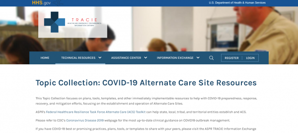 2020 04 27 15 21 31 COVID 19 Alternate Care Site Resources ASPR TRACIE