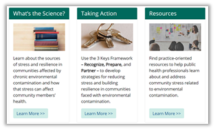 Visit the Community Stress Resource Center at www.atsdr.cdc.gov/stress.