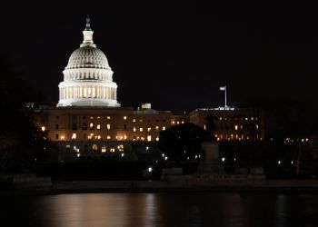 US Washington Capitol At Night
